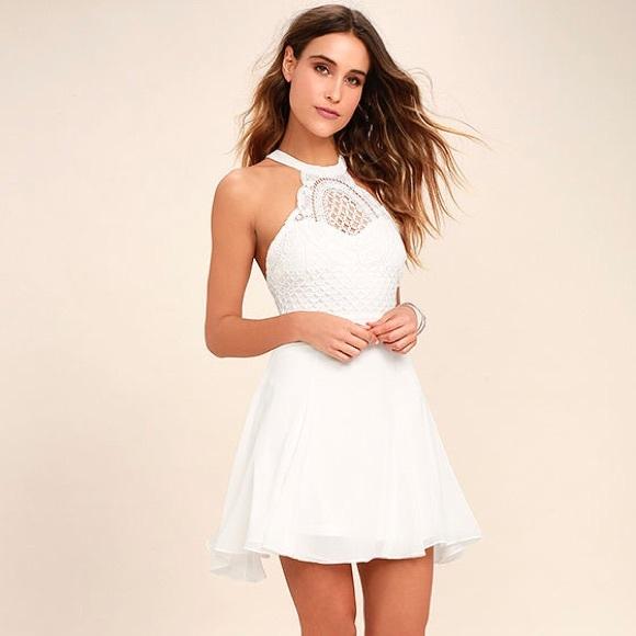 f4e01301b7c Lulu s White Skater Dress